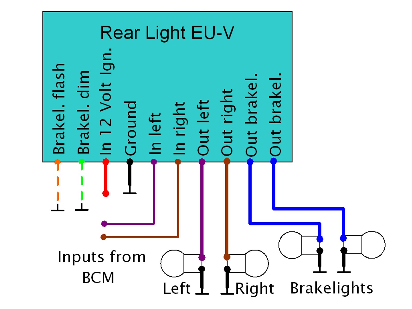 Rear Light EU-V