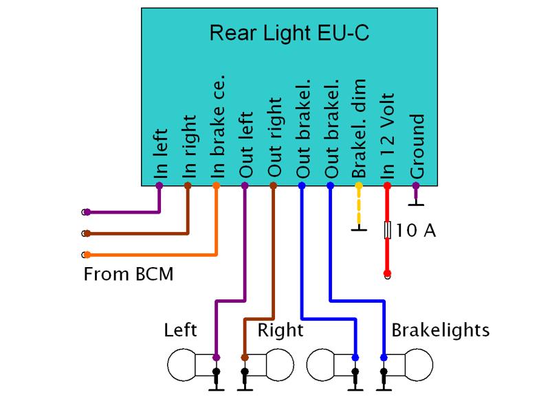 Rear Light EU-C